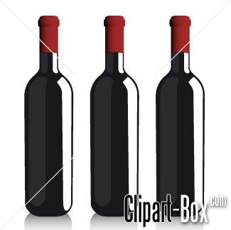 CLIPART BOTTLES OF WINE.