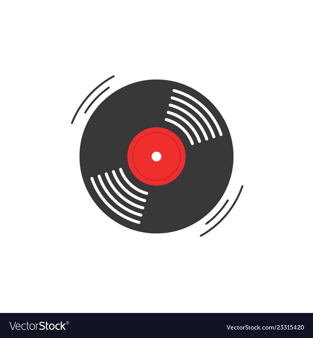 Vinyl record icon gramophone vinyl record.