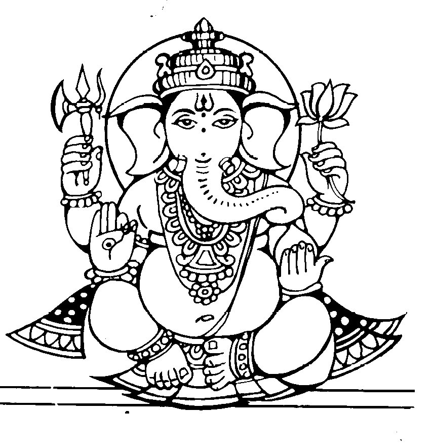 Free Ganesh Black And White, Download Free Clip Art, Free.