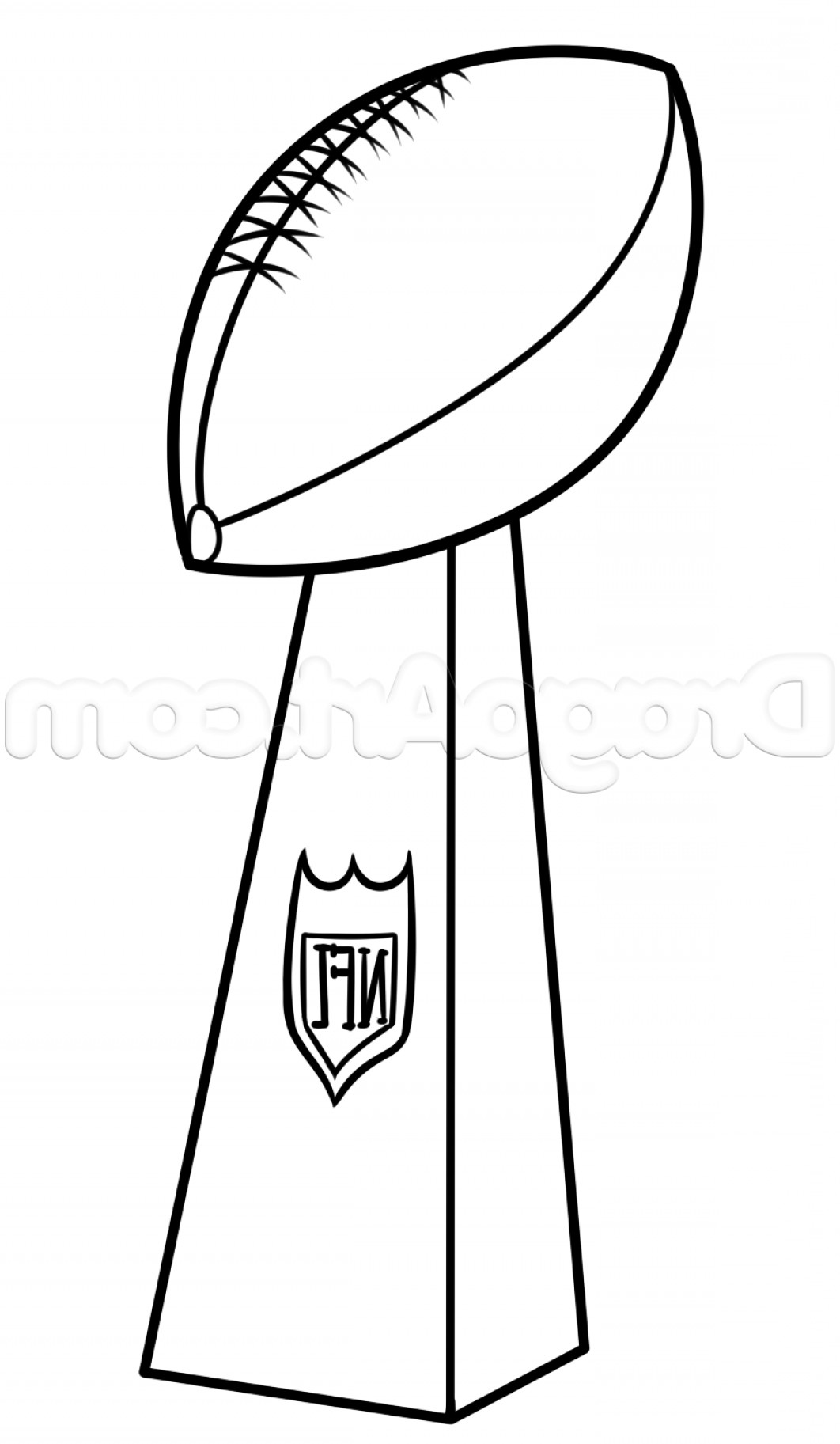 Super Bowl Drawing Lesson Vince Lombardi Trophy.