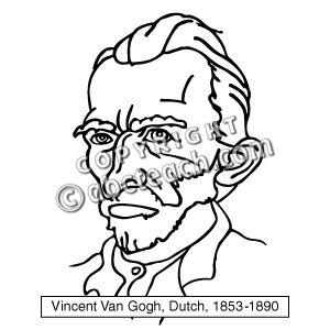 Vincent Van Go Clip Art.