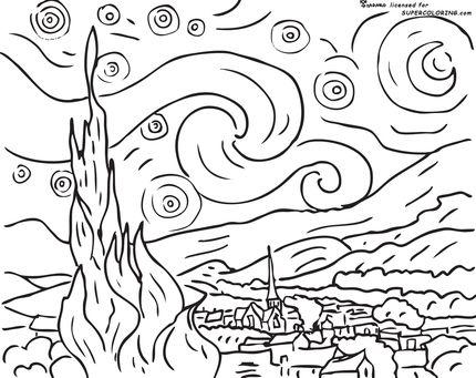 Vincent Van Gogh Clip Art.