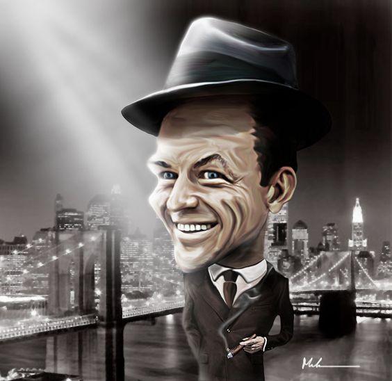 Frank Sinatra Caricature by Marcelo Reis Melo.