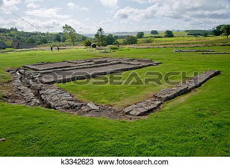 Stock Photo of Vindolanda ruins k3342623.