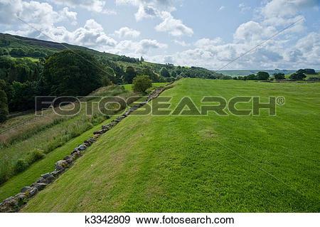 Stock Photograph of Vindolanda field k3342809.