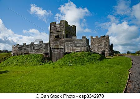 Stock Photography of Vindolanda fort gatehouse.