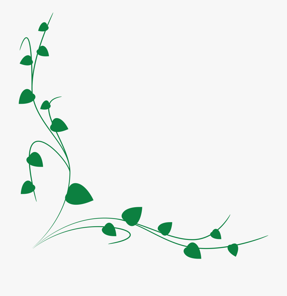 Free Clipart Of A Green Vine Border.
