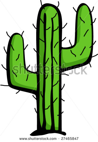 Desert Cactus Clip Art.