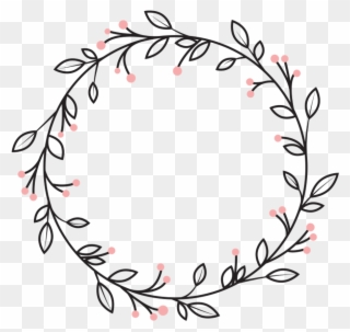 Berries Leaves Vines Wreath Swirls Decoration Icon.
