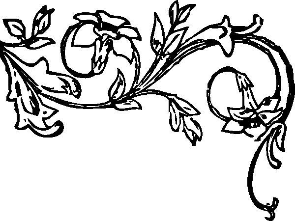 Flower Vines Clipart Black And White Floral Vine Clip Art At.
