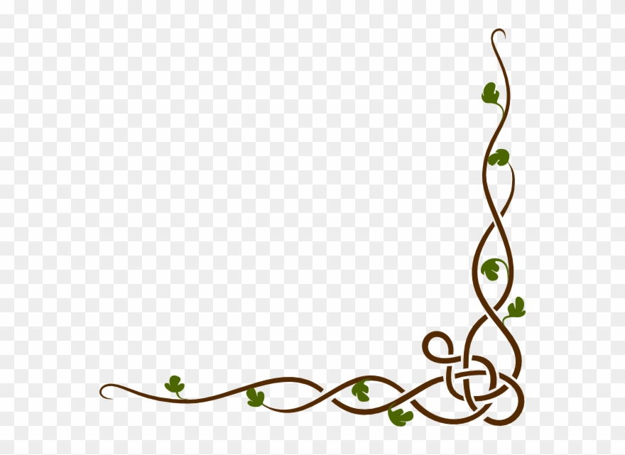 Cartoon Vines Border Clipart Drawing Clip Art.