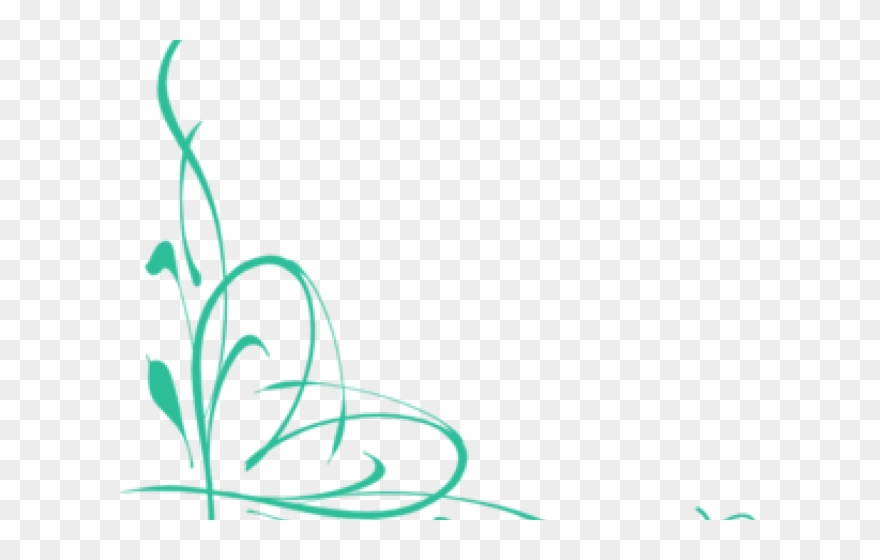 Vines Clipart Teal.