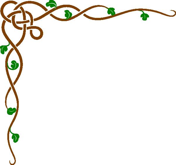 Brown Celtic Vine W/green Leaves Clip Art at Clker.com.