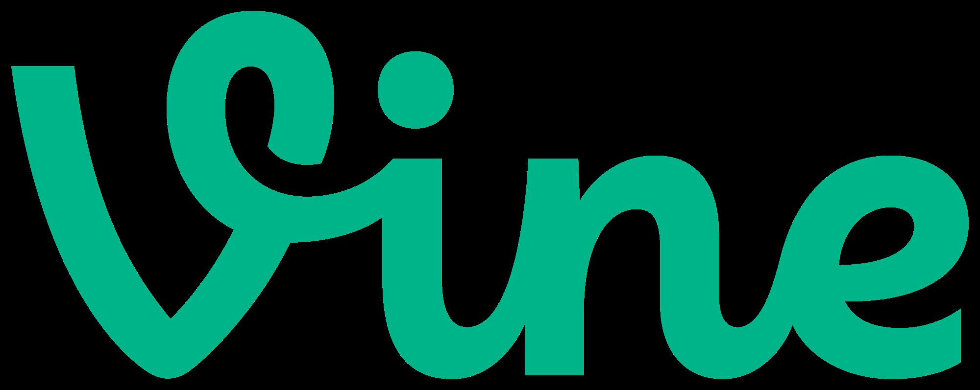 Vine Logo transparent PNG.
