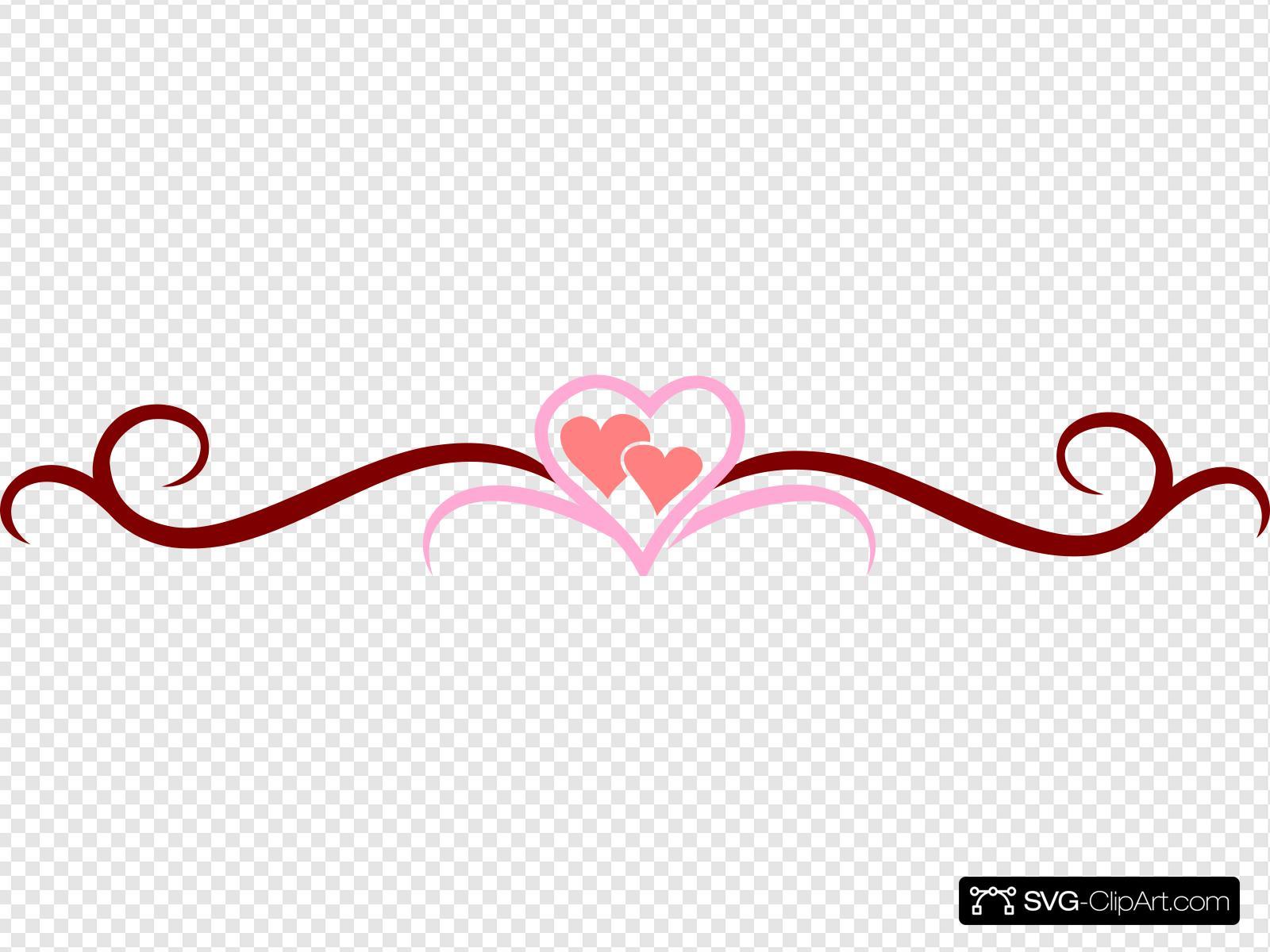 Vine Heart Clip art, Icon and SVG.