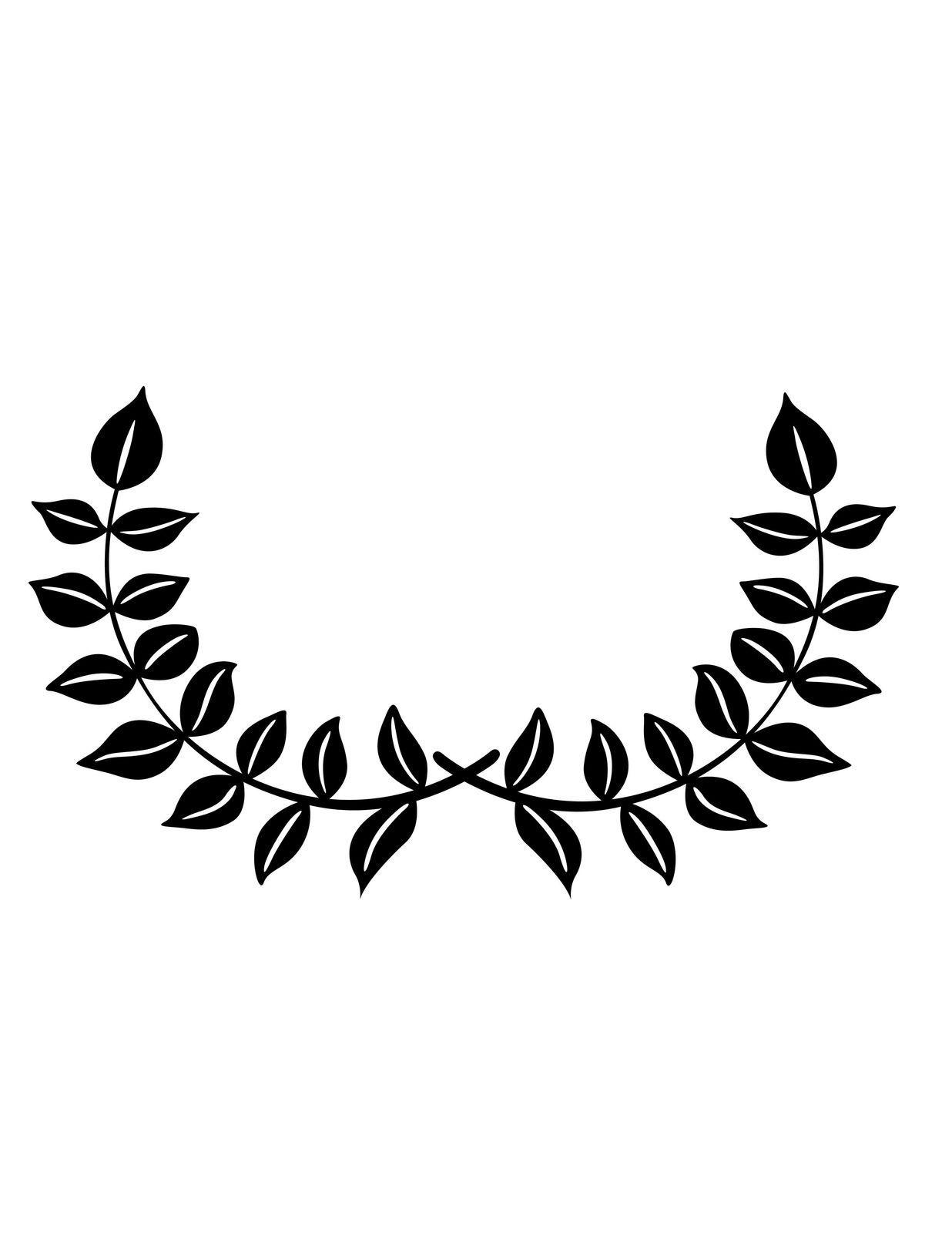 Vine Leafy Silhouette Black.