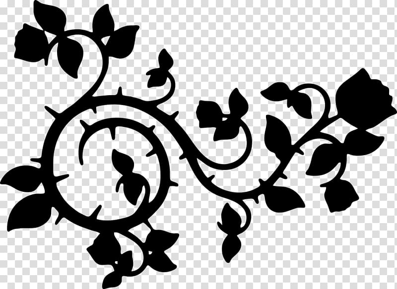 Vine Silhouette , vine material transparent background PNG.