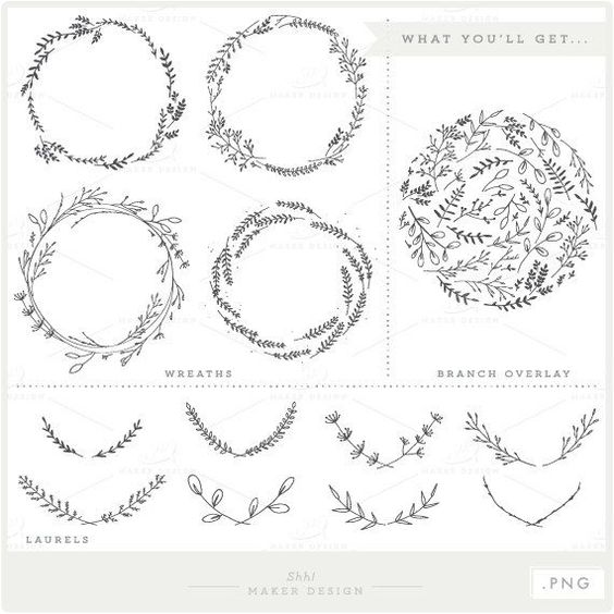 Vine Wreath Clipart.