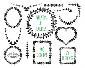 Grape Vine Wreath Clipart.