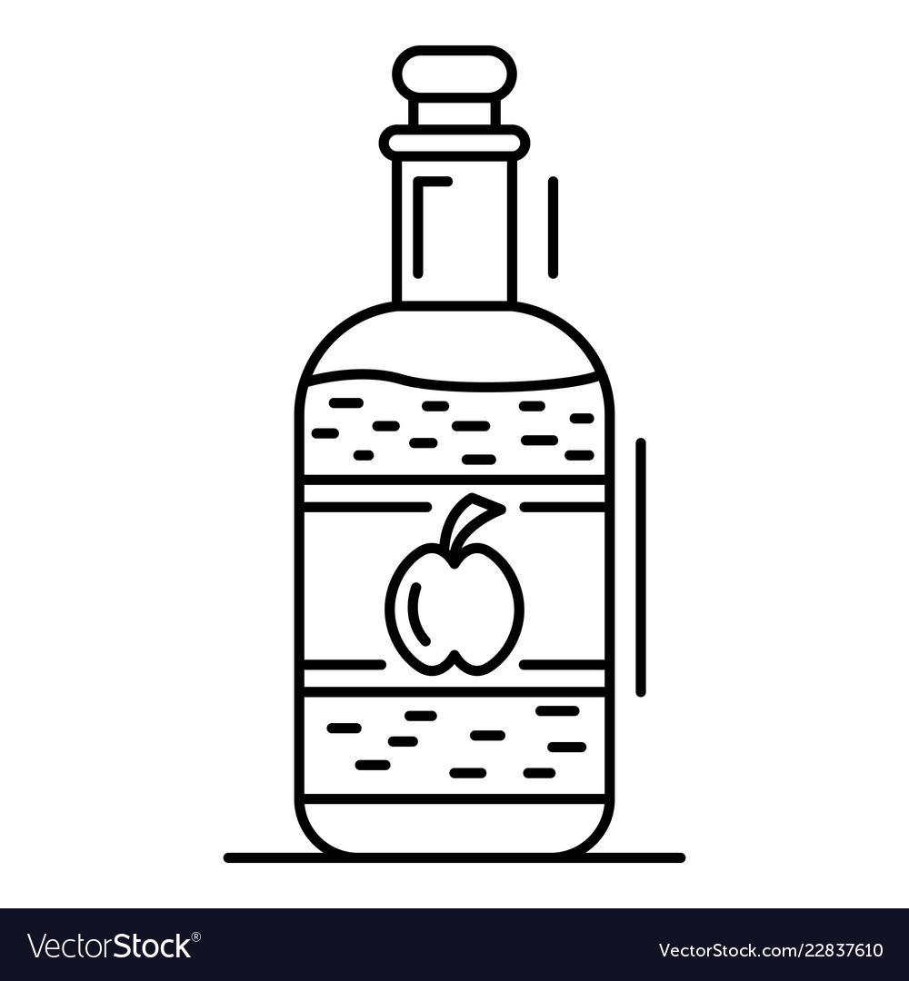 Apple vinegar icon outline style.