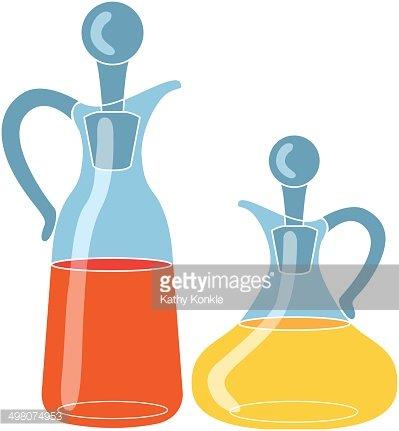 Oil and Vinegar Bottles premium clipart.