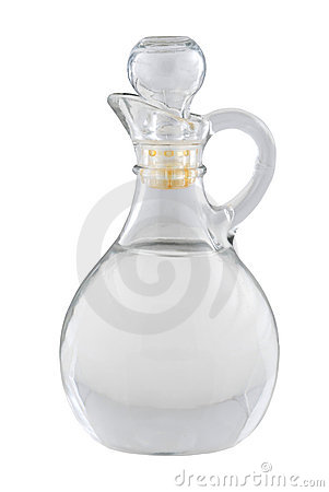 Vinegar Bottle Royalty Free Stock Image.