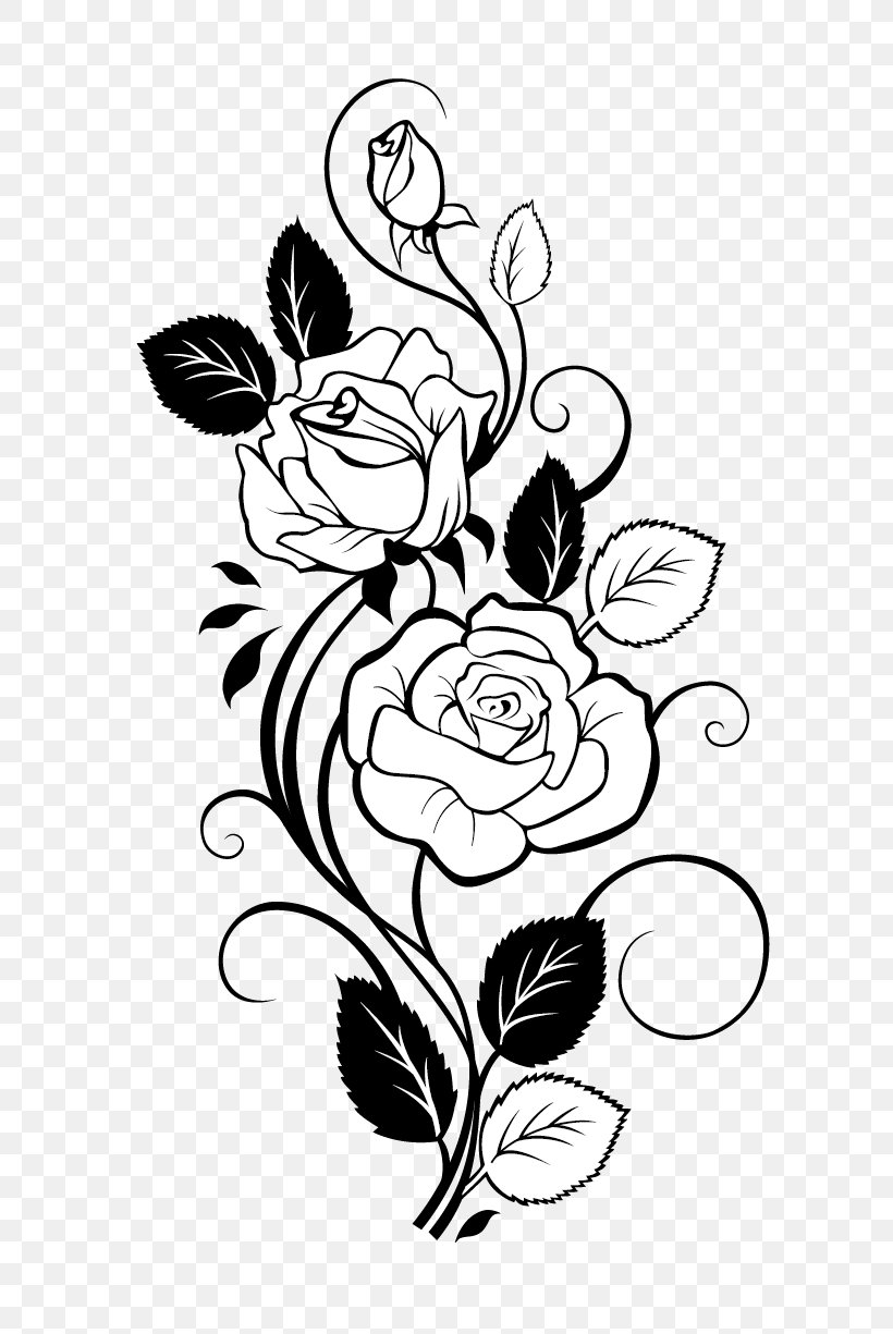 Rose Drawing Vine Clip Art, PNG, 700x1225px, Watercolor.