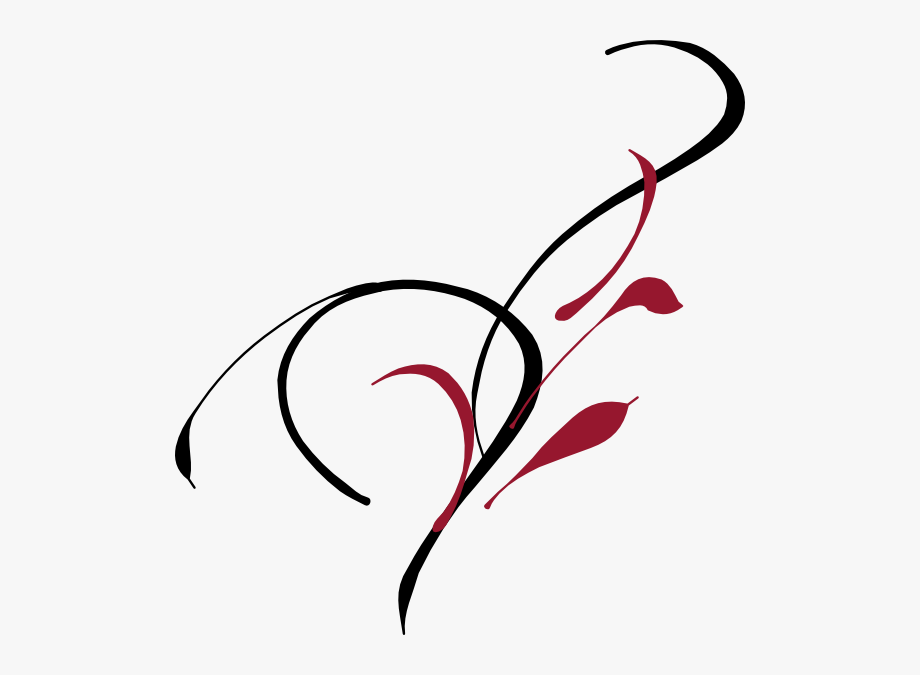 Elegant Wedding Clip Art Vector Online Scrolls.