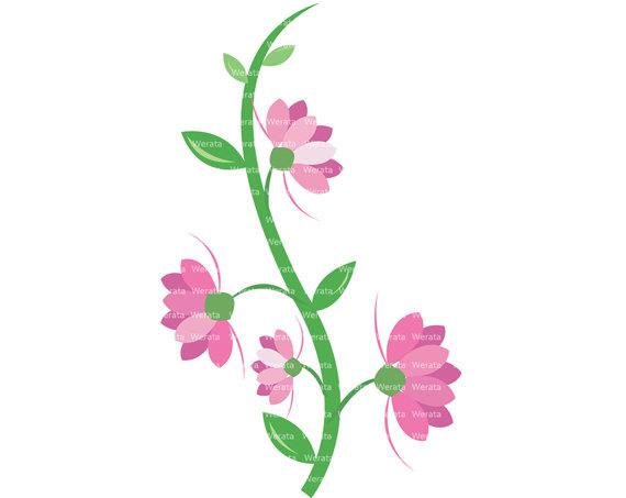 Free Flower Vine Clipart.