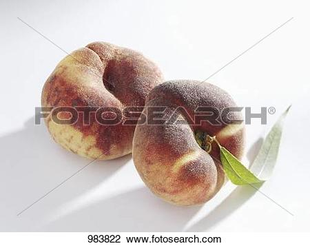 Stock Photo of Two vineyard peaches 983822.