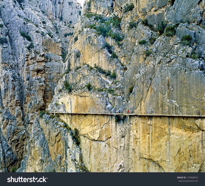 El Camino Del Rey Via Ferrata Stock Photo 127068974.