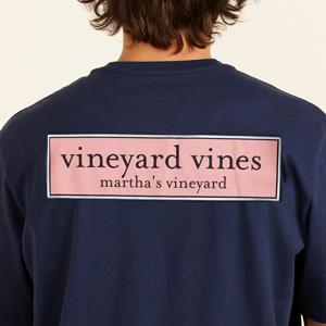 Vineyard Vines Rectangle Logo Tee.