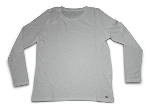 Vineyard Vines Womens Slub Shirt Long Sleeve Whale Logo Tee.