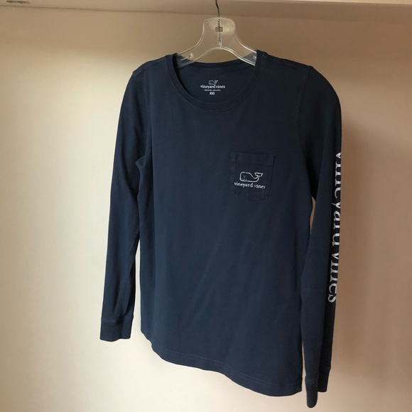 Navy Blue Vineyard Vines Logo shirt.