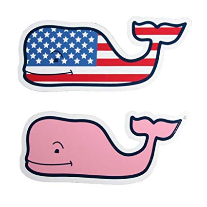 Vineyard Vines New LOT of 2 Whale Sticker 4.5\