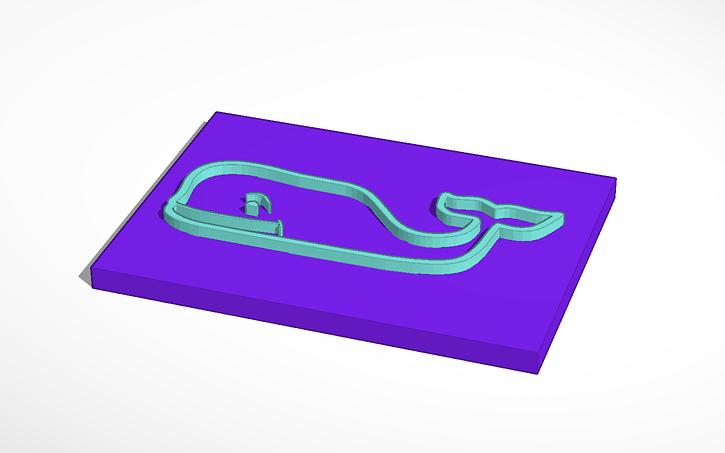 3D design Vineyard Vines Whale.
