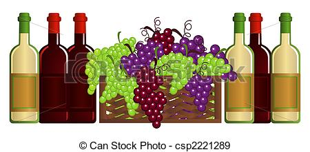Stock Illustration of Vineyard.