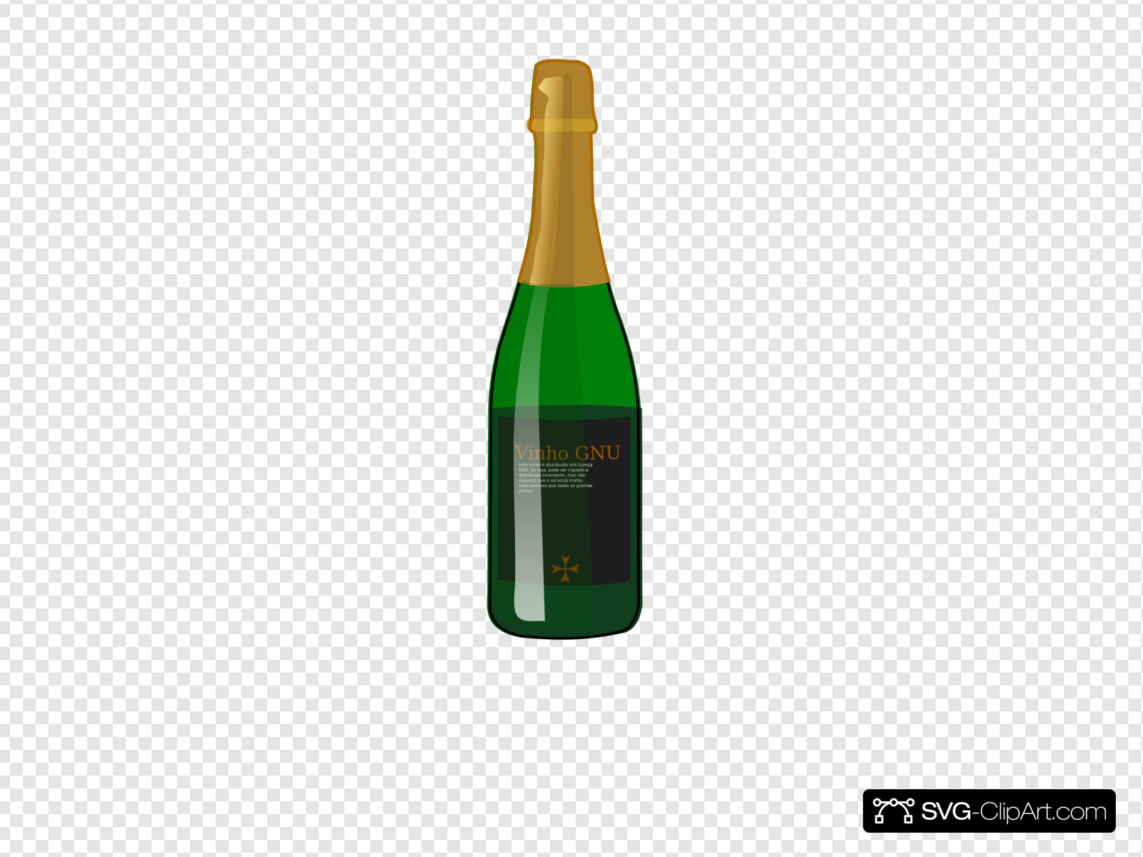 Wine Gnu Clip art, Icon and SVG.
