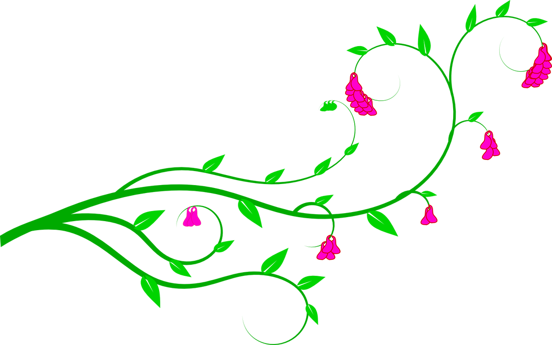 Free vining flowers background clipart.