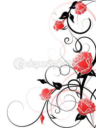 Rose Vines Clipart.