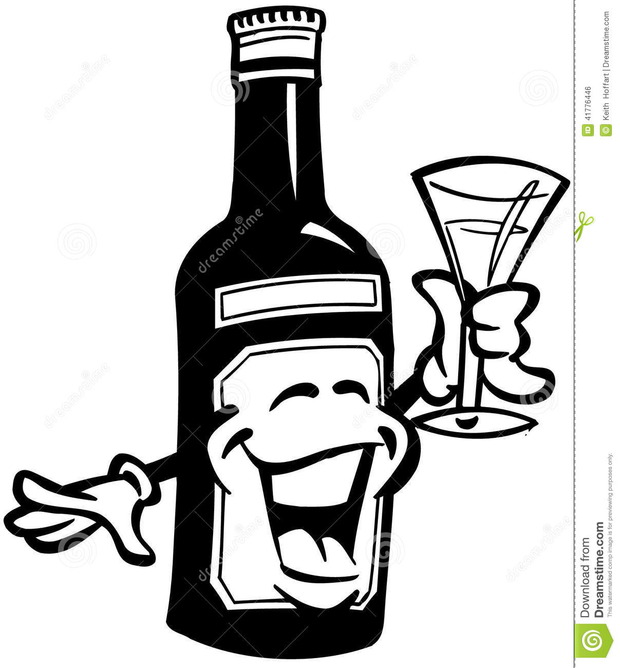 Wine Cartoon Vector Clipart Stock Vector.