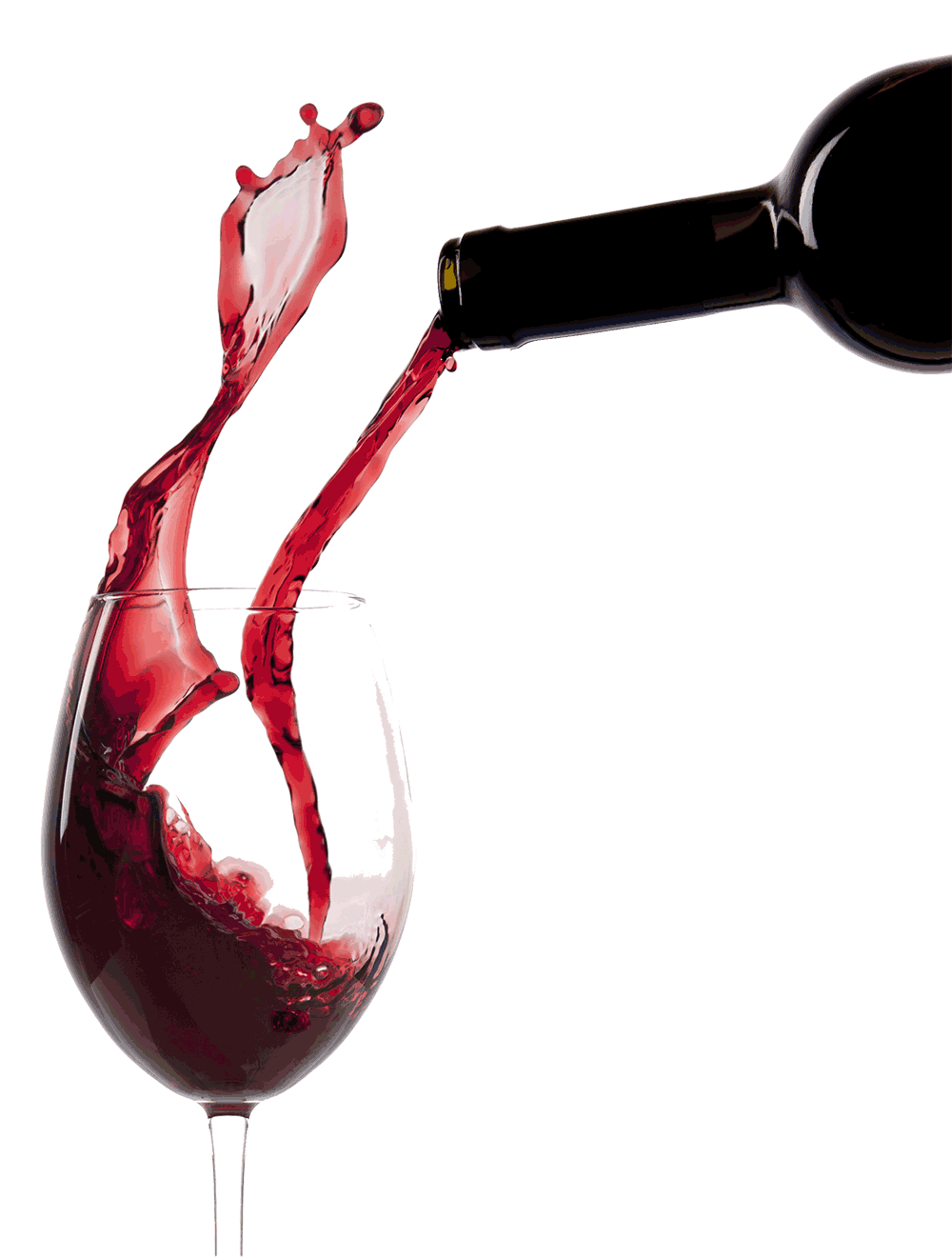 Pouring Red Wine Glass transparent PNG.