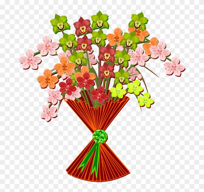 Flower Bouquet Cut Flowers Drawing Nosegay.