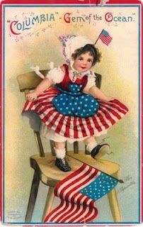 vintage 4th of july clipart.