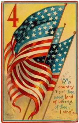 Free 4th of July Vintage Postcards.