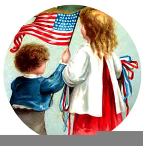 Vintage Fourth Of July Clipart.