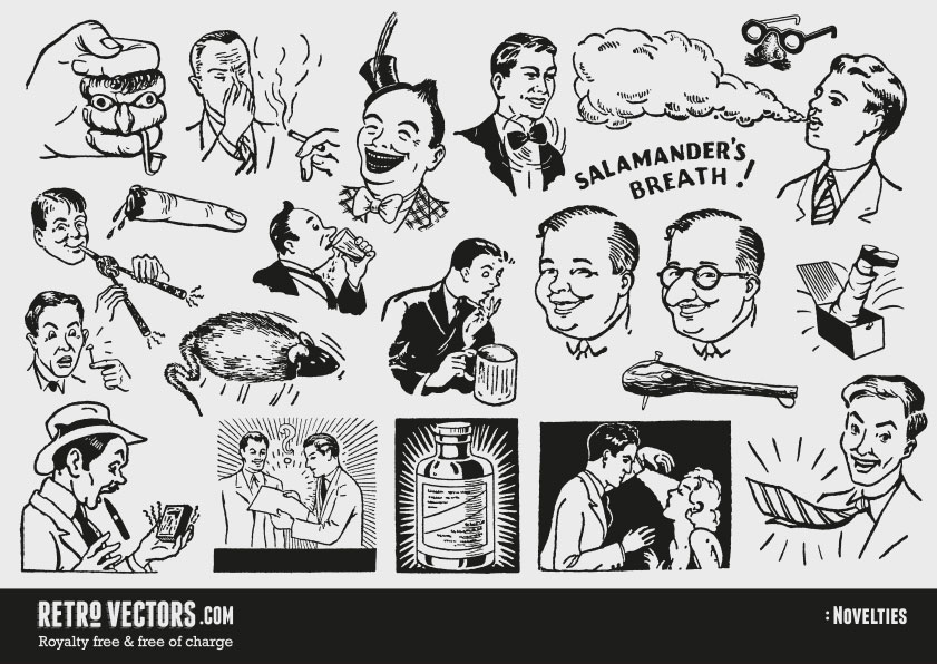 50s novelty advert clipart.