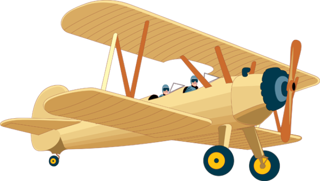 Vintage airplane clip art