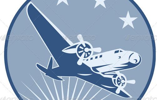 Vintage Airplane Clip Art.