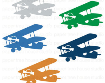 Free Vintage Airplane Clipart Image.